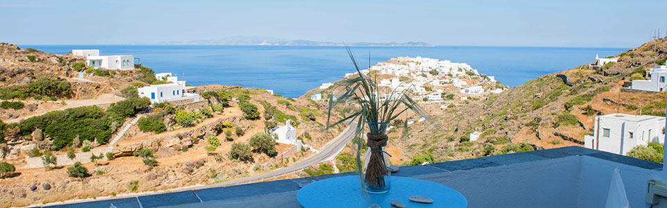 The views from Maro rooms in Sifnos